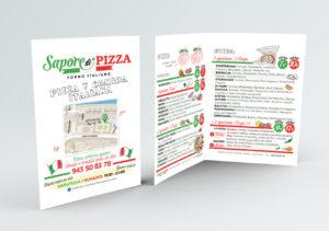 tríptico sapore de pizza